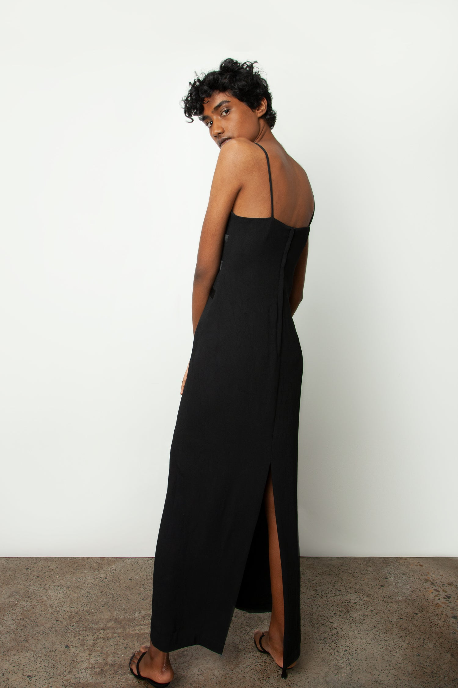 SILK TRIM SLIP DRESS