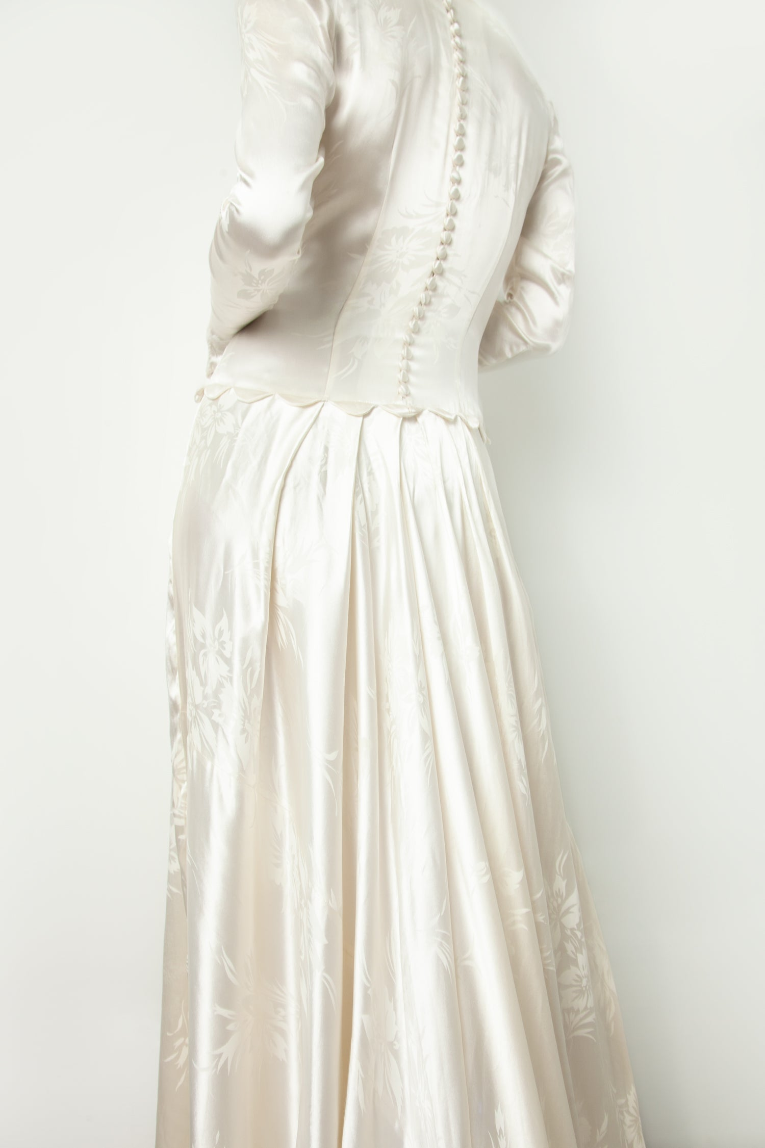 1930s WEDDING GOWN