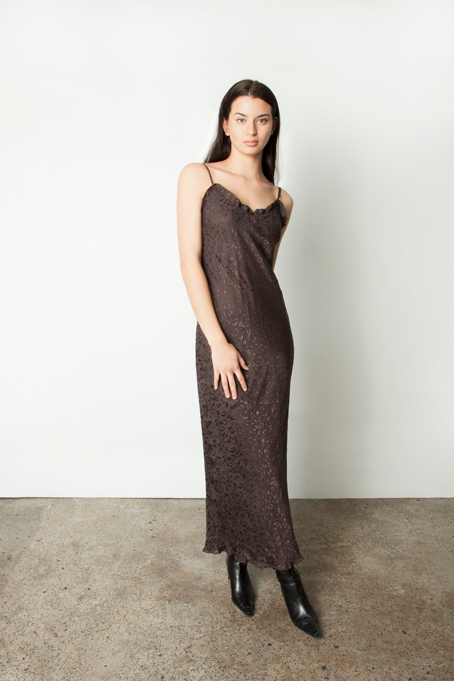 DEVORE SLIP DRESS