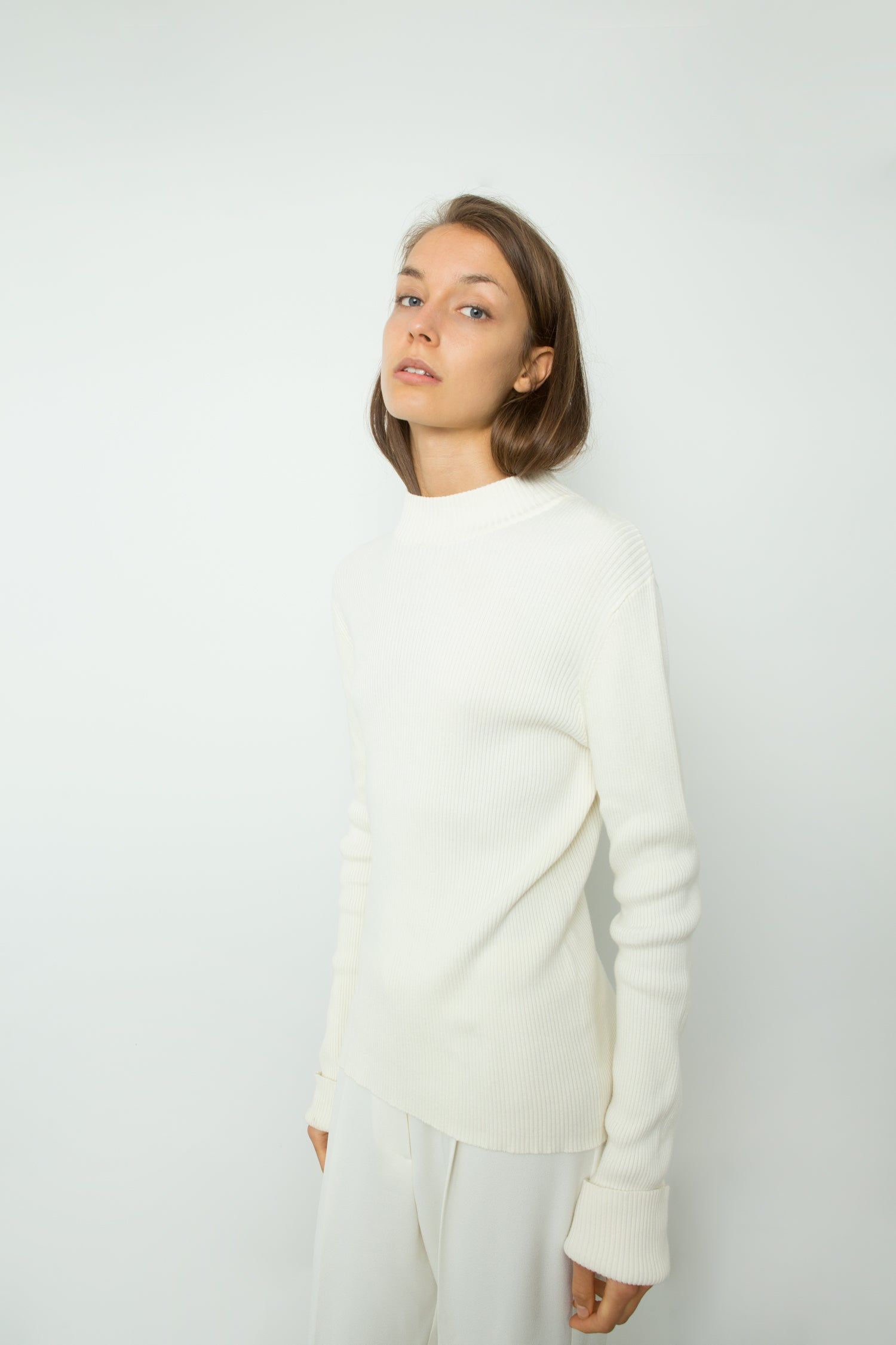 RIB KNIT WITH EXTRA LONG SLEEVES