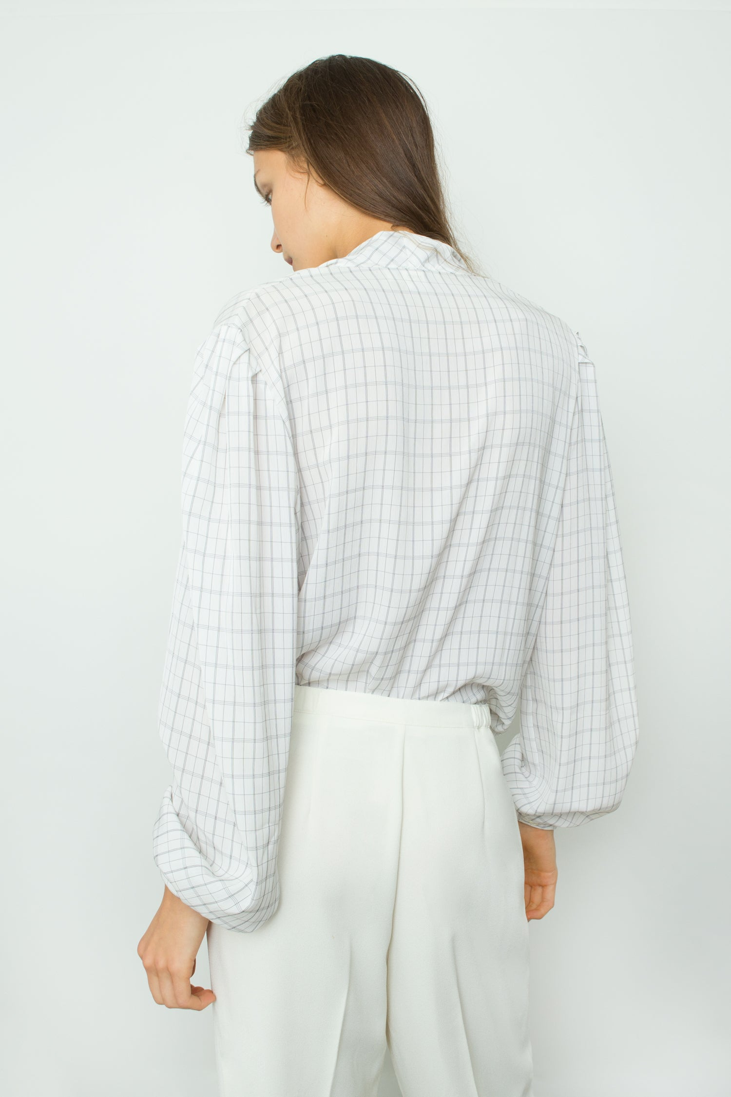 CHECK BLOUSE