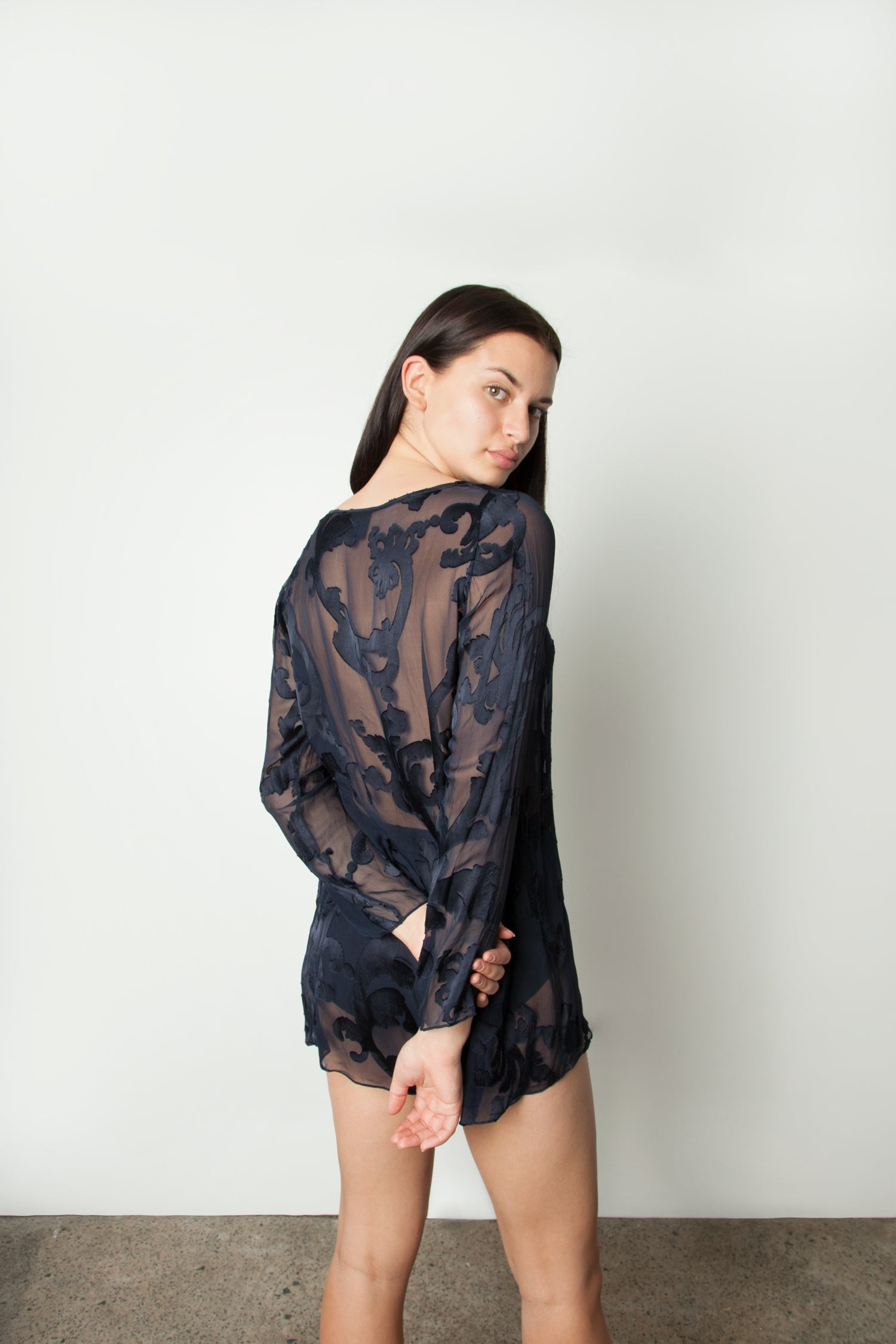 SILK DEVORE BLOUSE