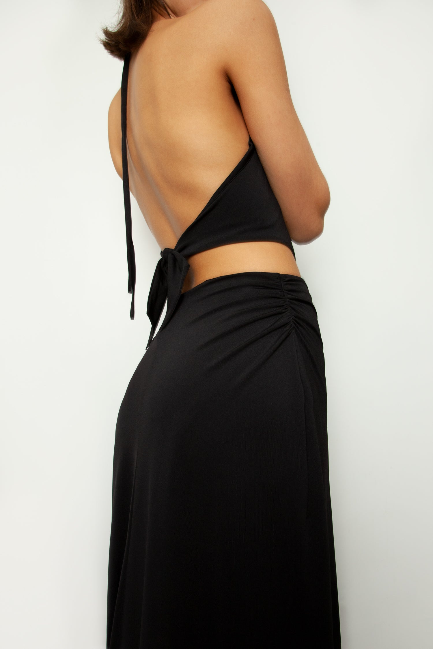 HALTER TIE BACK DRESS