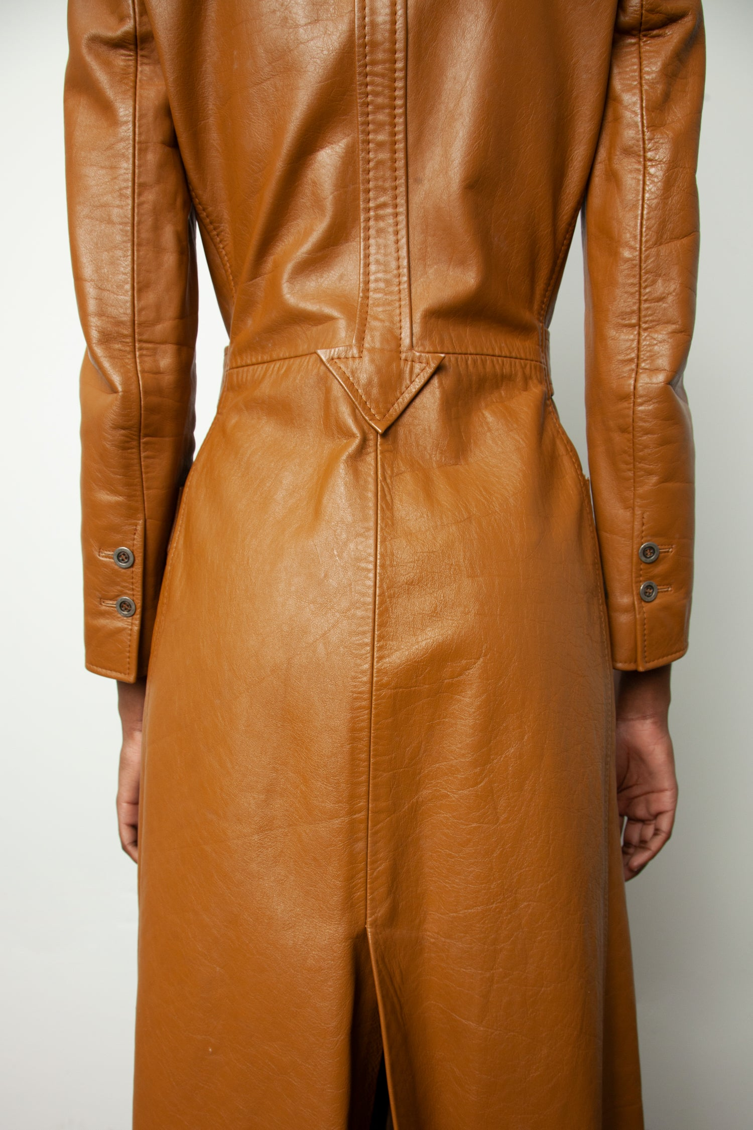 MERIVALE LEATHER COAT