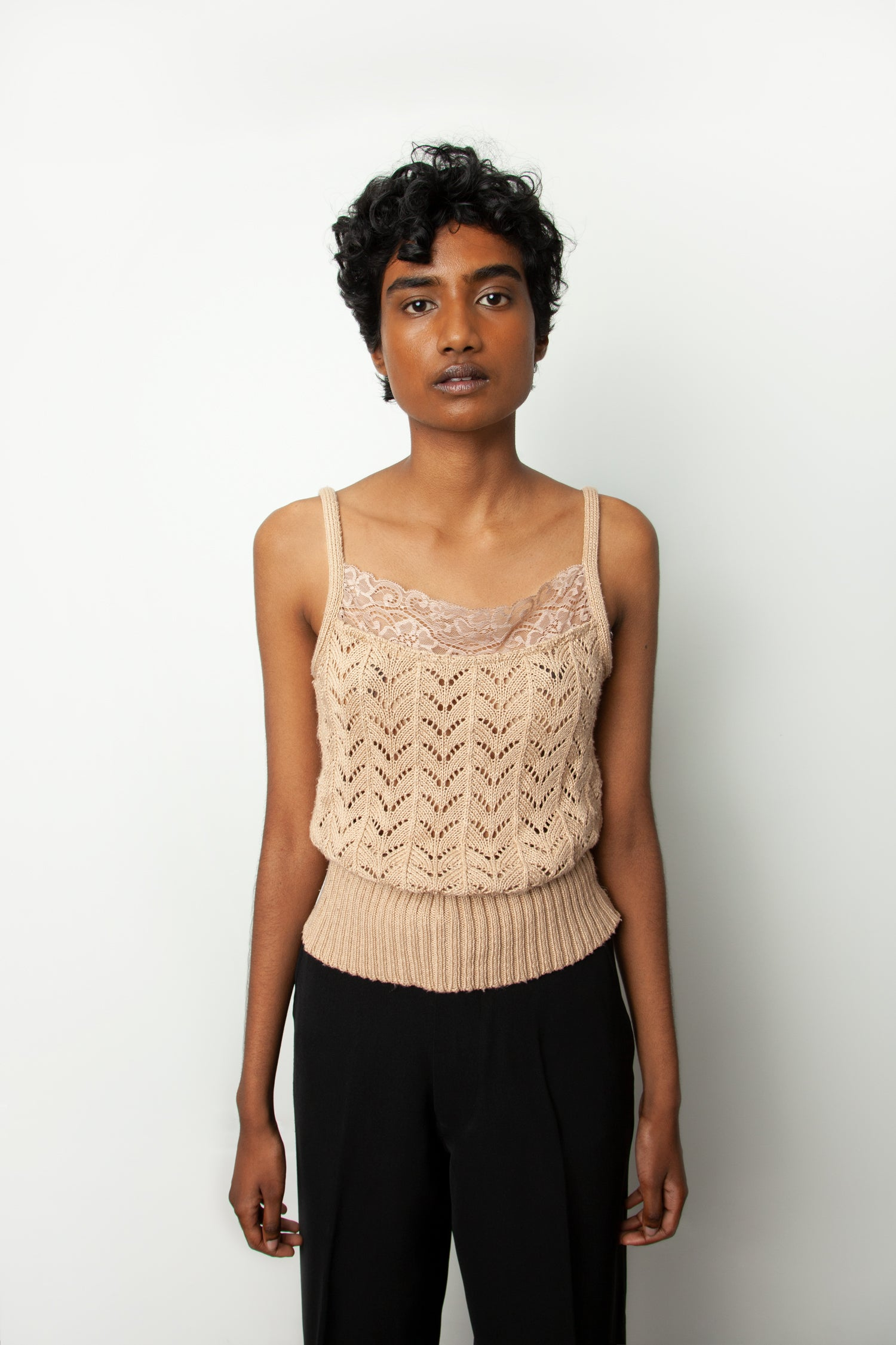 LACE KNIT CAMI