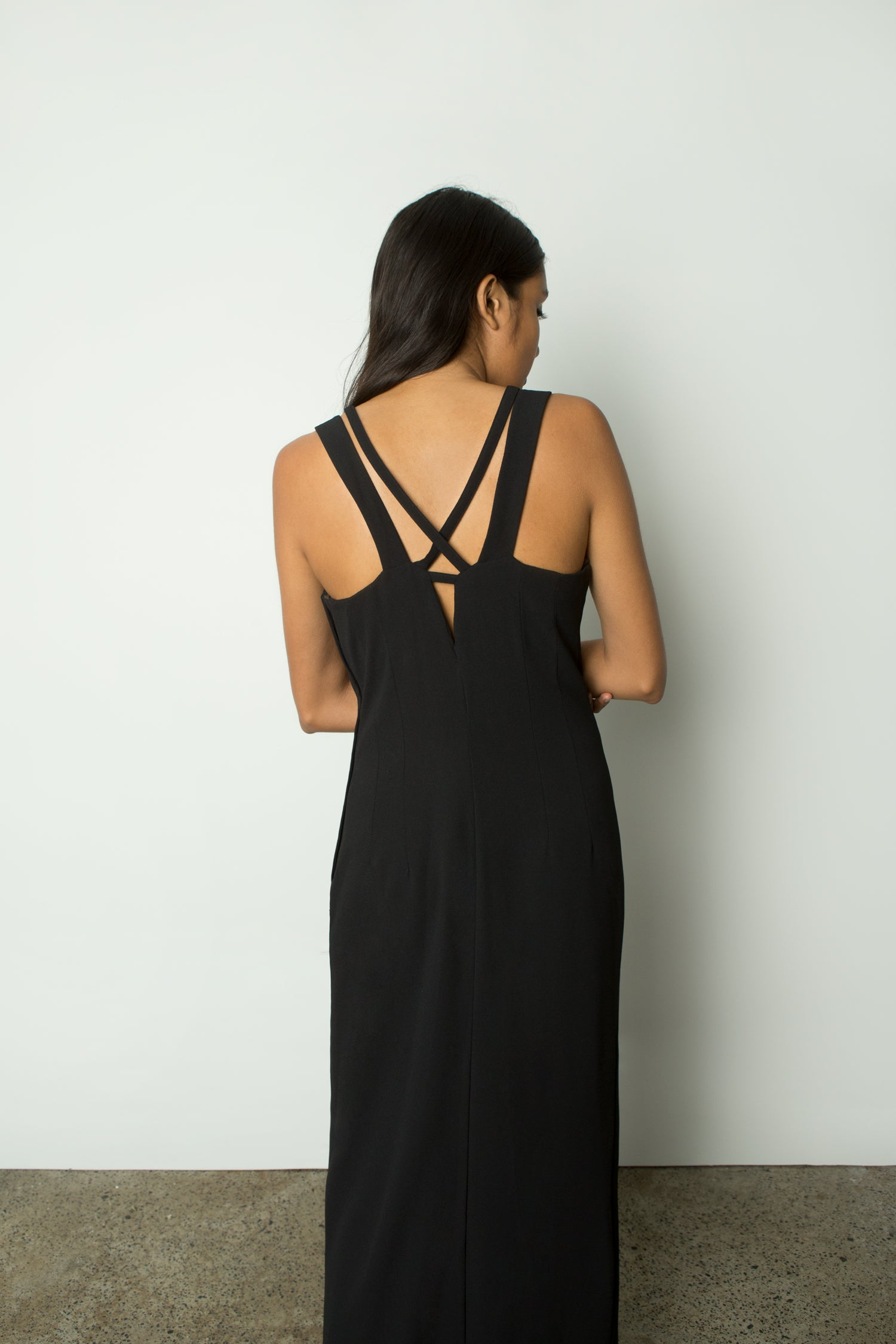 DRESS WITH PLUNGING NECKLINE