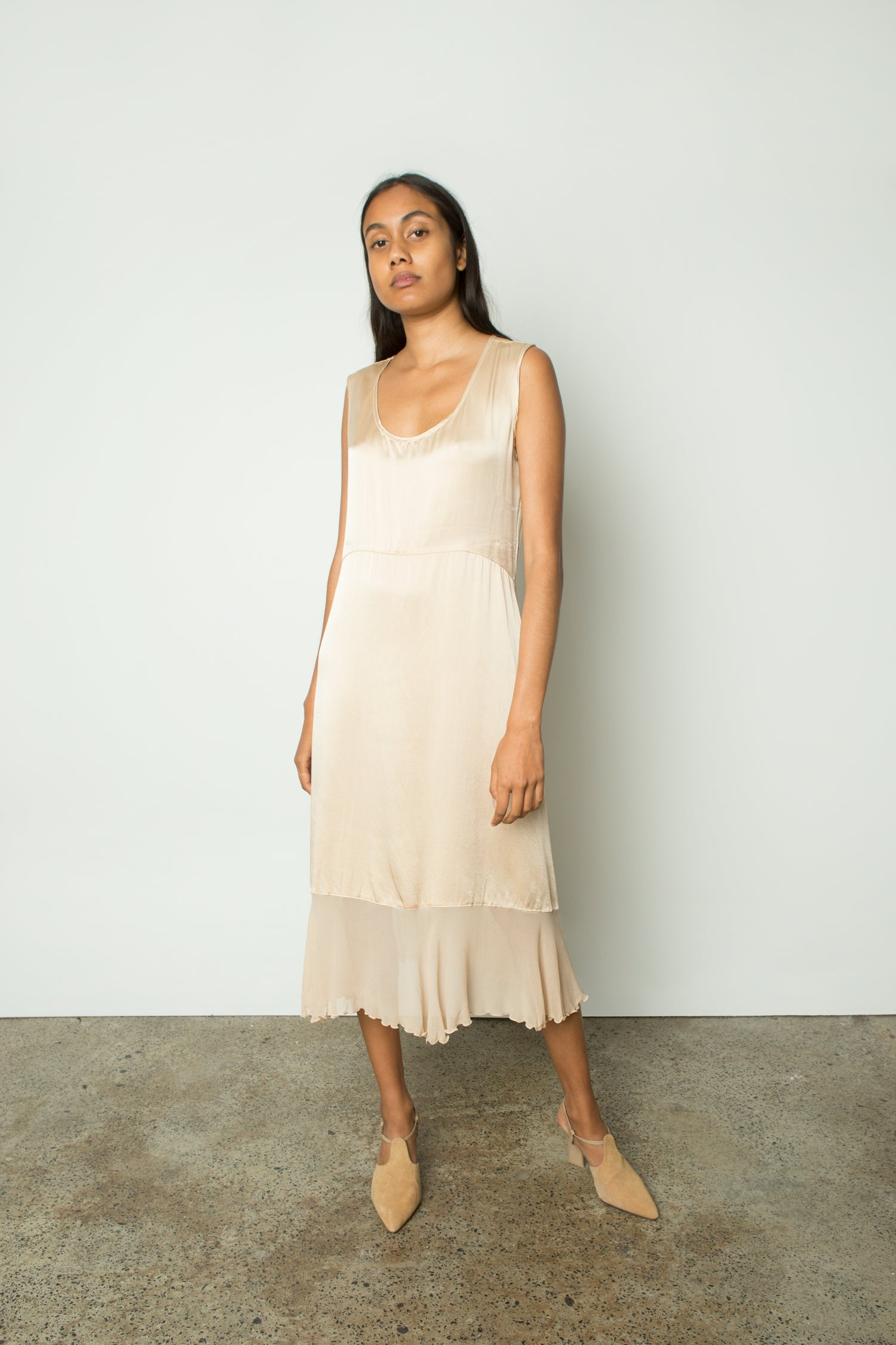 SILK TANK SLIP DRESS