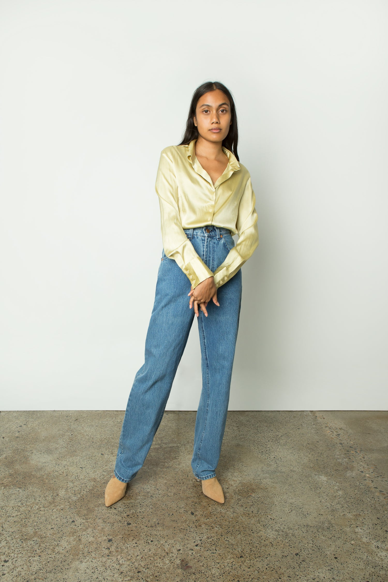 CITRON SILK SHIRT
