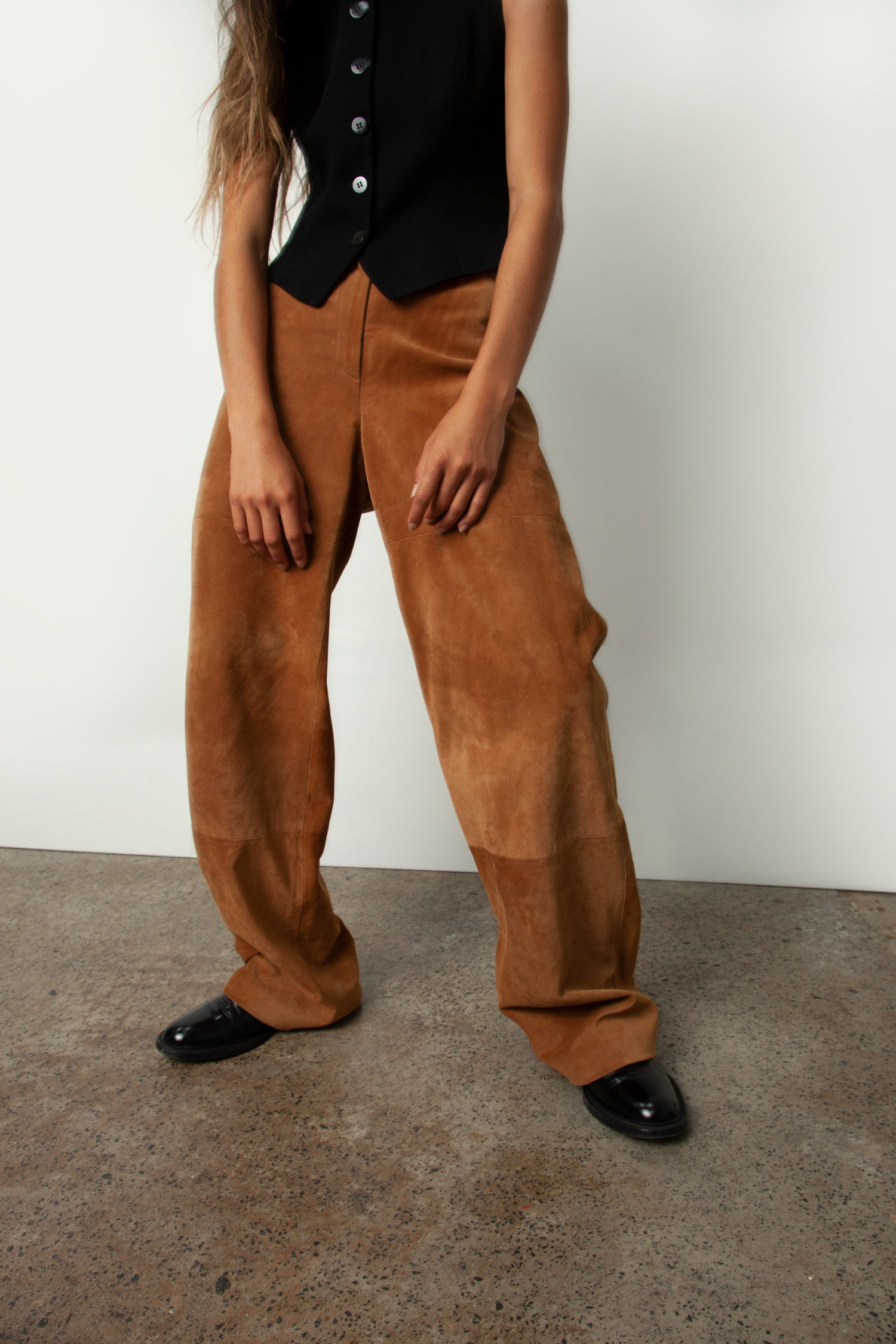 WEEKEND MAX MARA SUEDE PANT