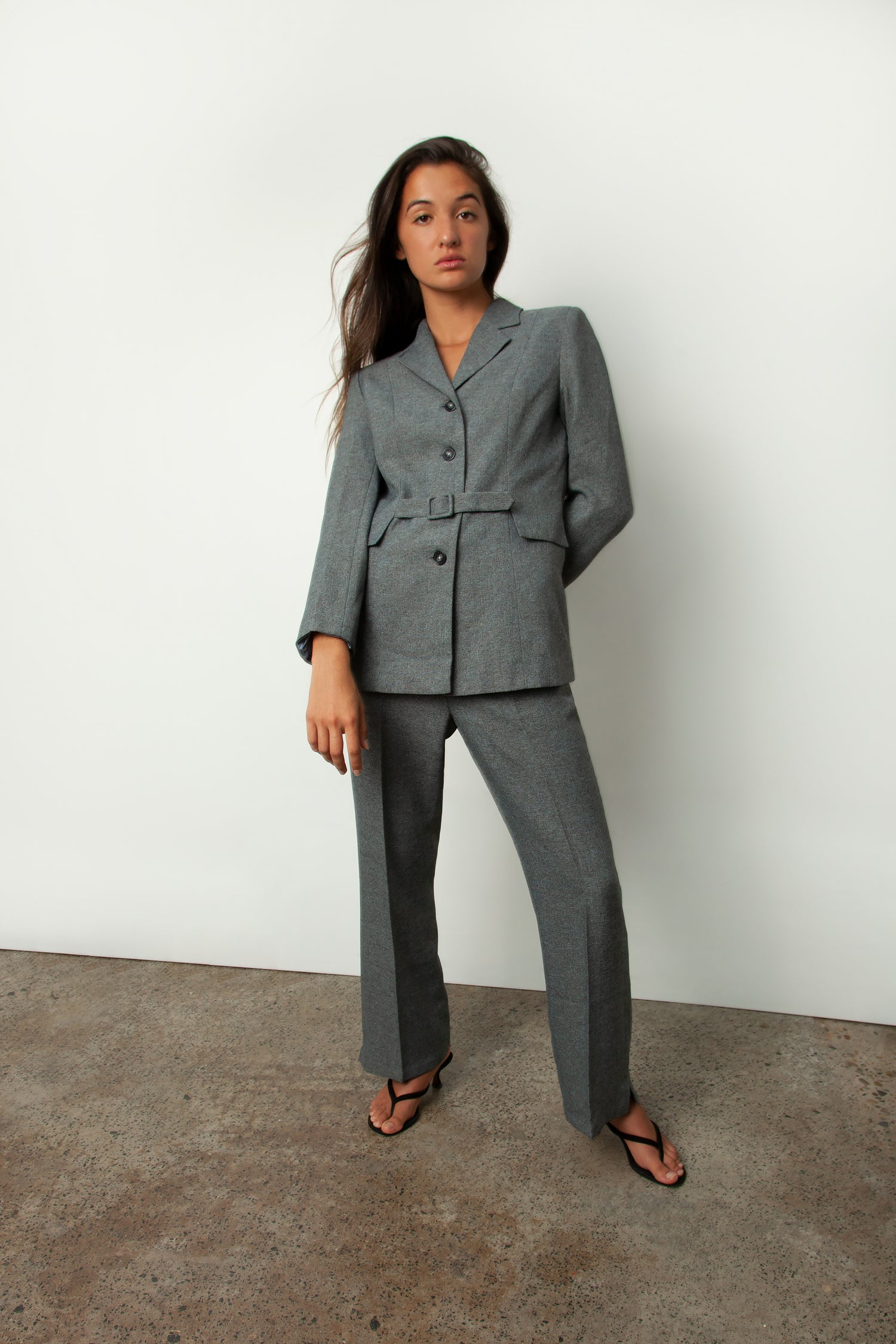 BELTED PANT SUIT