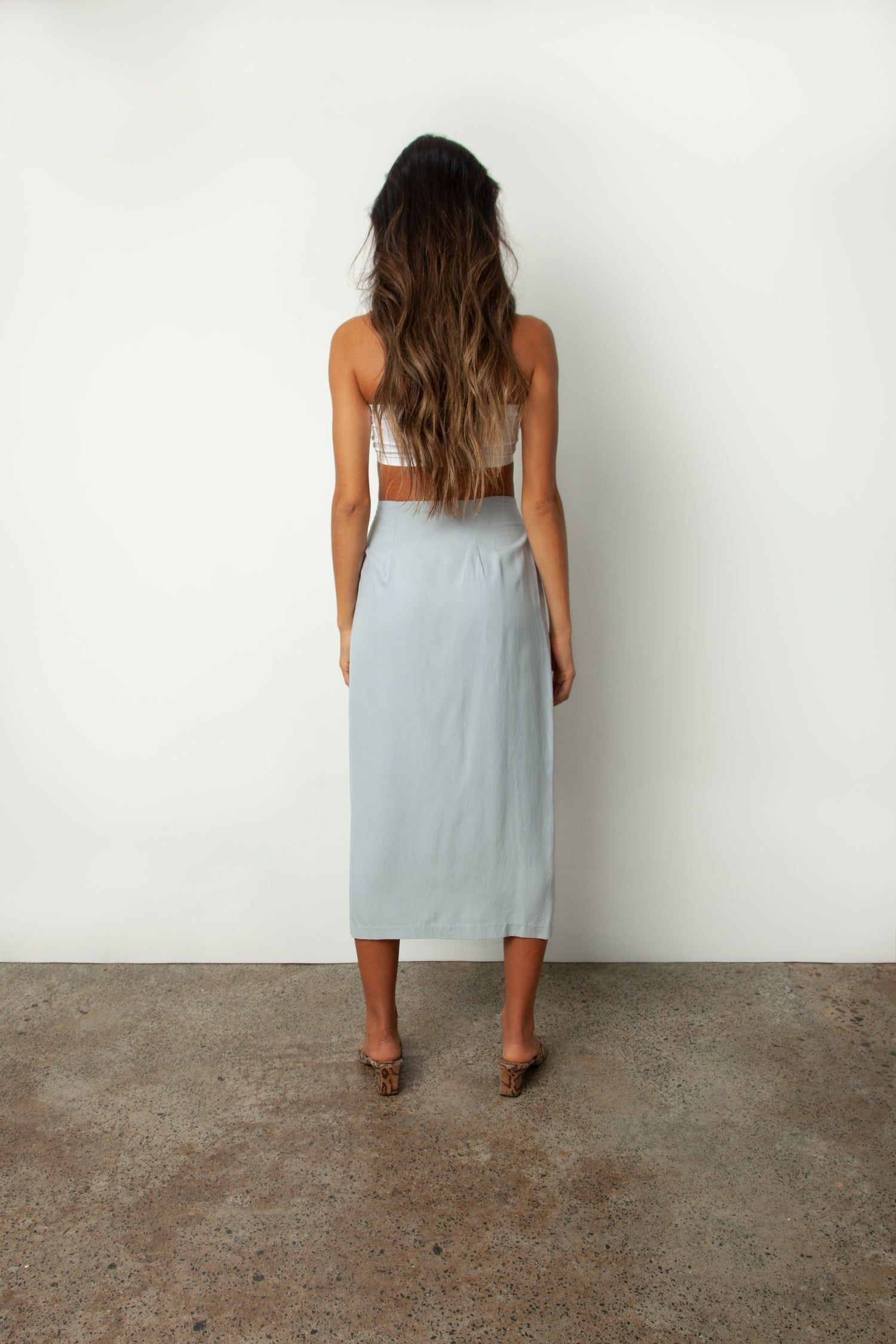 SILK WRAP SKIRT