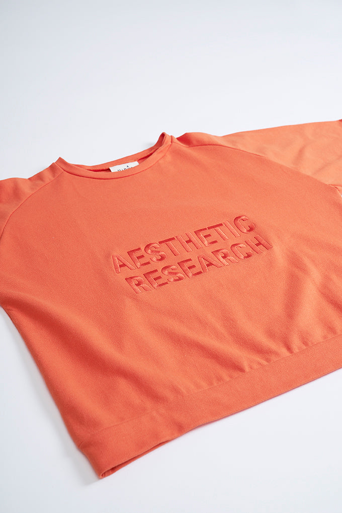 Short Sleeve Sweat - Orange - Aesthetic Research