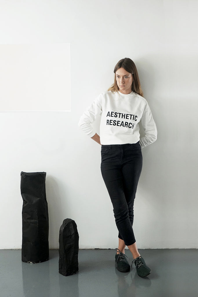 Aesthetic Research Sweat Black on White