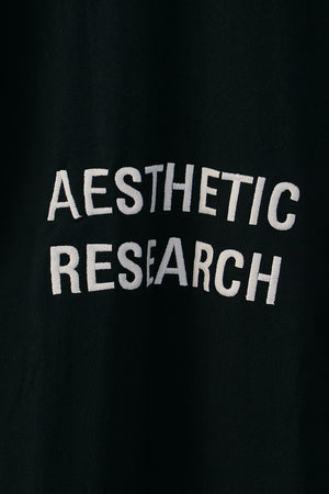 Aesthetic Research Sweatshirt Black on White