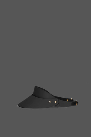 Leather Visor in Black