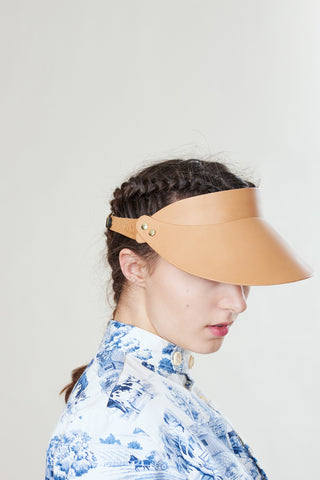 Hadjio leather visor camel