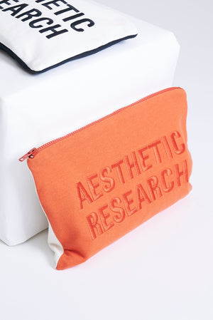 Orange Cotton Clutch Bag