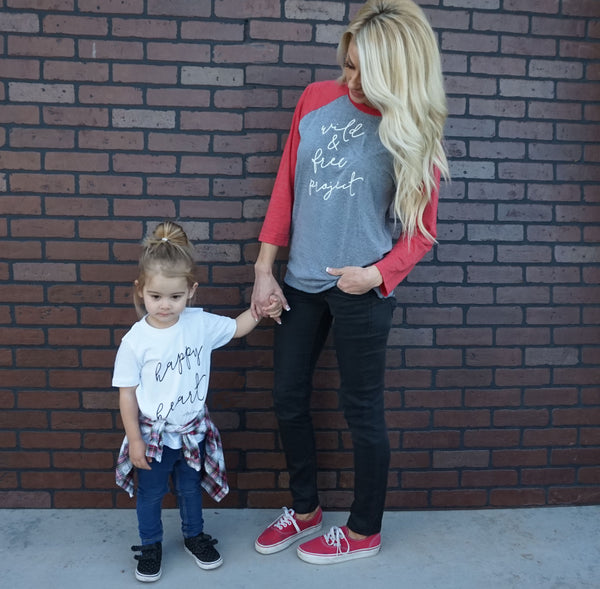 LIMITED EDITION Wild & Free Red Raglan- Women's