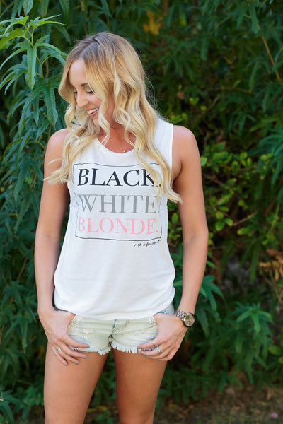 Black. White. Blonde. TANK - Women's