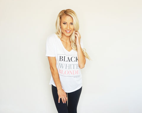 Black. White. Blonde. V-NECK - Women's