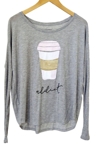 Coffee Addict Long Sleeve Tee - Women's