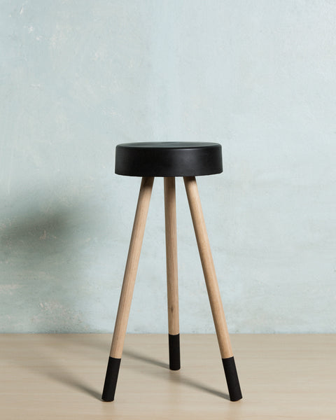 Black Concrete Stool