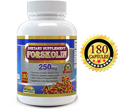 Jump-Start Metabolic Booster with All-Natural Forskolin Extract - 180 Capsules with Premium Quality, High Potency 250mg Forskohlii.  Premium Forskolin Extract for Weight Loss, Fat burner  – Start a Healthier Life from Today!