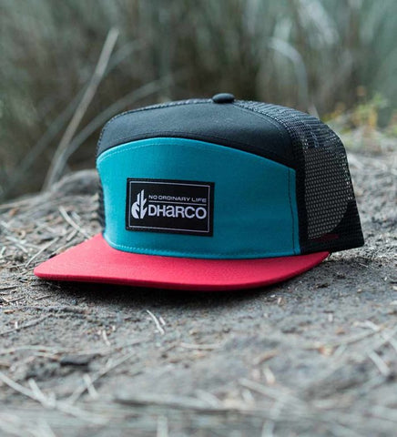 Dharco Trucker Cap - Blue/Red & PARTY