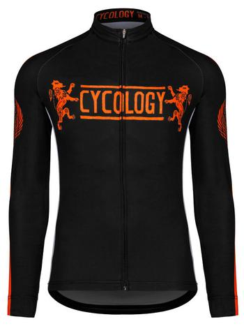 Cycology - VINTAGE HERALDIC (ORANGE) MENS LONG SLEEVE JERSEY