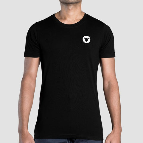 Black Sheep - Casuals Black Embroidered Staple Tee