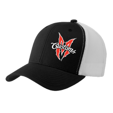 FLEXFIT SNAPBACK MARTIN BROS TRUCKER HAT (BLACK/ WHITE)