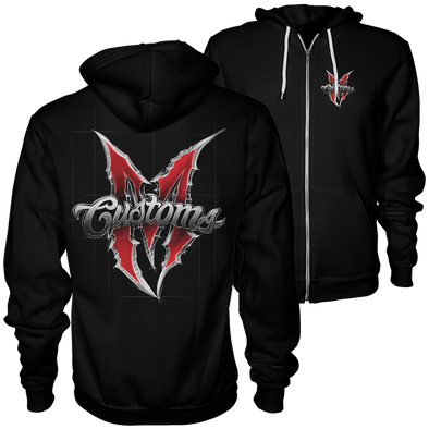 *NEW DESIGN* MEN'S SKETCHED LOGO ZIP UP HOODIE