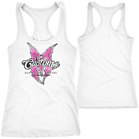 LADIES PINK AND WHITE TANK