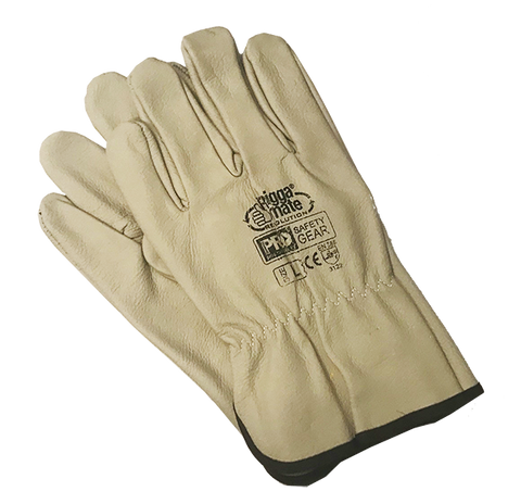 Riggamate Cow Premium Biege Gloves Large