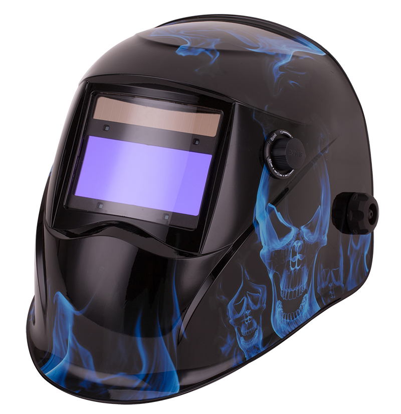 Top Gun Warrior Auto-darkening Welding Helmet Blue Inferno