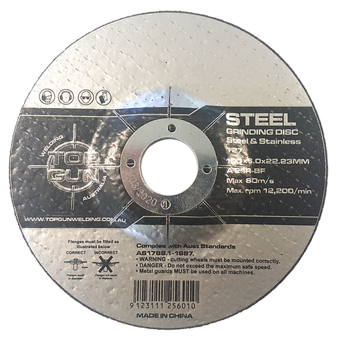 "Top Gun Grinding Disc 4"" 24 Grit"