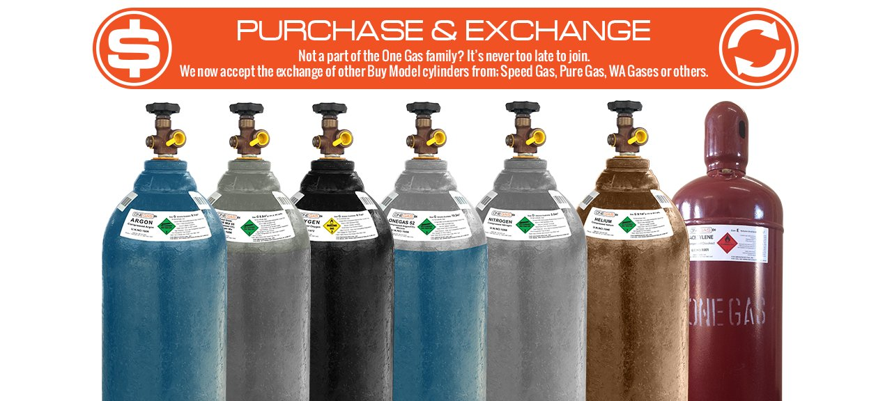 purchase and exchange gas cylinders