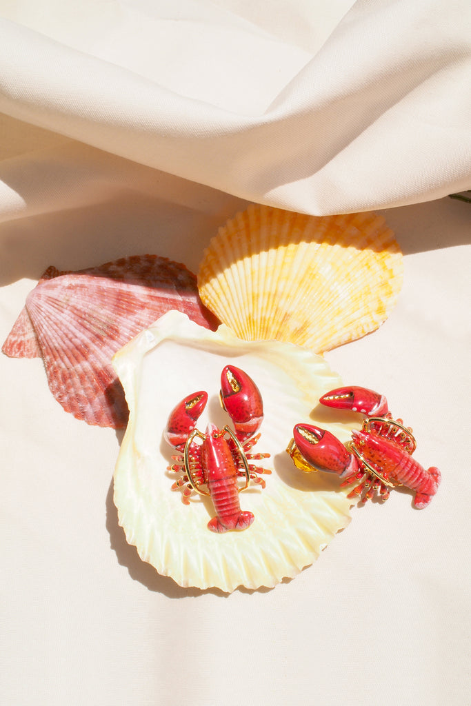 Red Lobster Earrings | Ocean Instruments