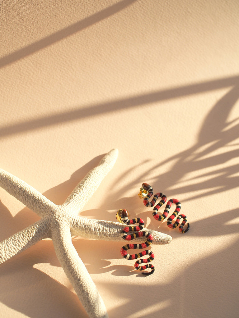 Milk Snake Earrings | Ocean Instruments