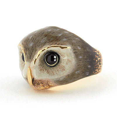 Happy Spotted Owl Ring | MOONLIGHT VALLEY