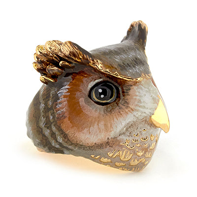 Merry Great Horn Owl Ring