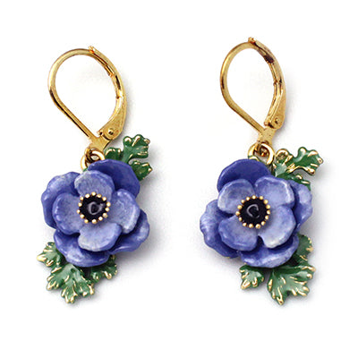 Anemone Violet Earrings | BLOOM