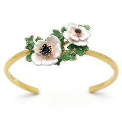 Anemone White Bangle | BLOOM