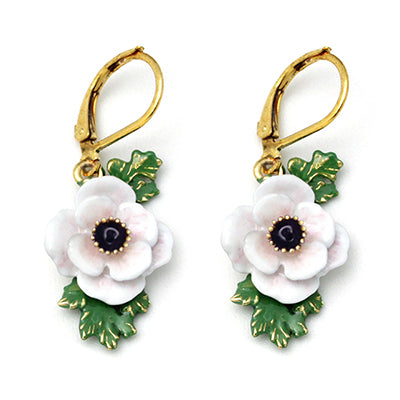 Anemone White Earrings