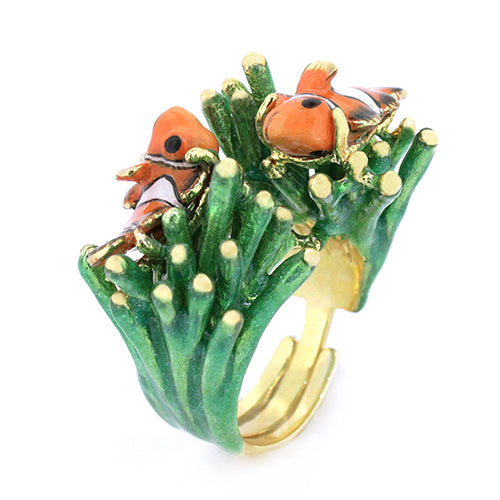 Clownfish and Sea Anemone Ring