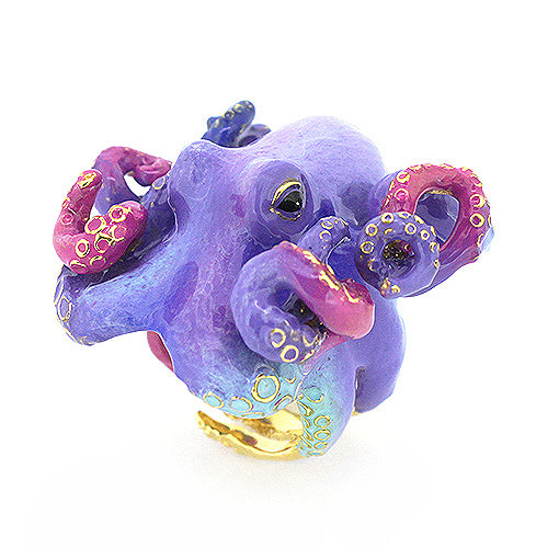 Purple Octopus Ring
