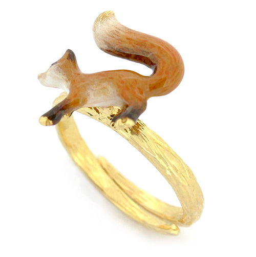 ACHxGFN Trio Stacking Rings - Fox, Yellow wattle, Orange-tip butterflies.