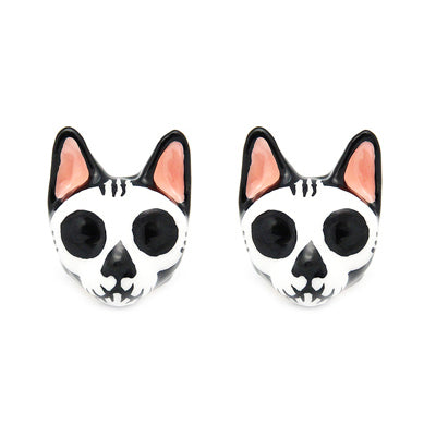 Mori Skull Cat Earrings | CATS