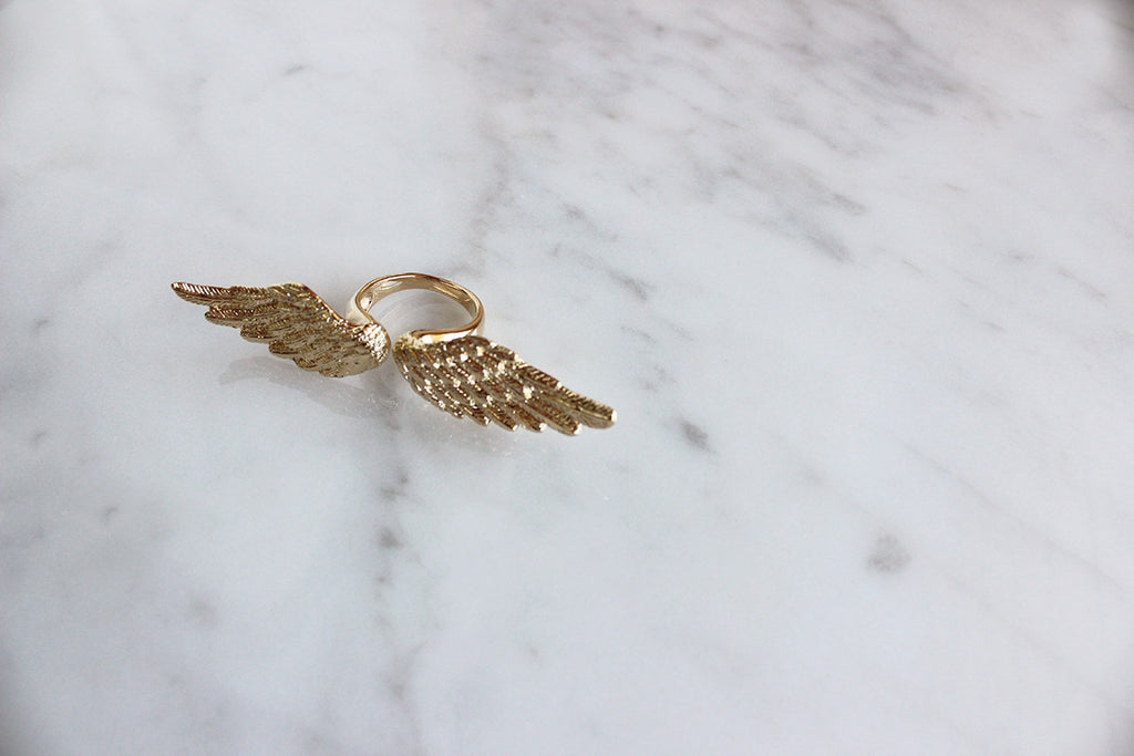Angel Wing Ring Gold | ANGELS & DEMONS
