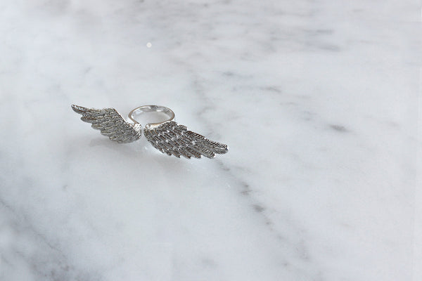 Angel Wing Ring Silver